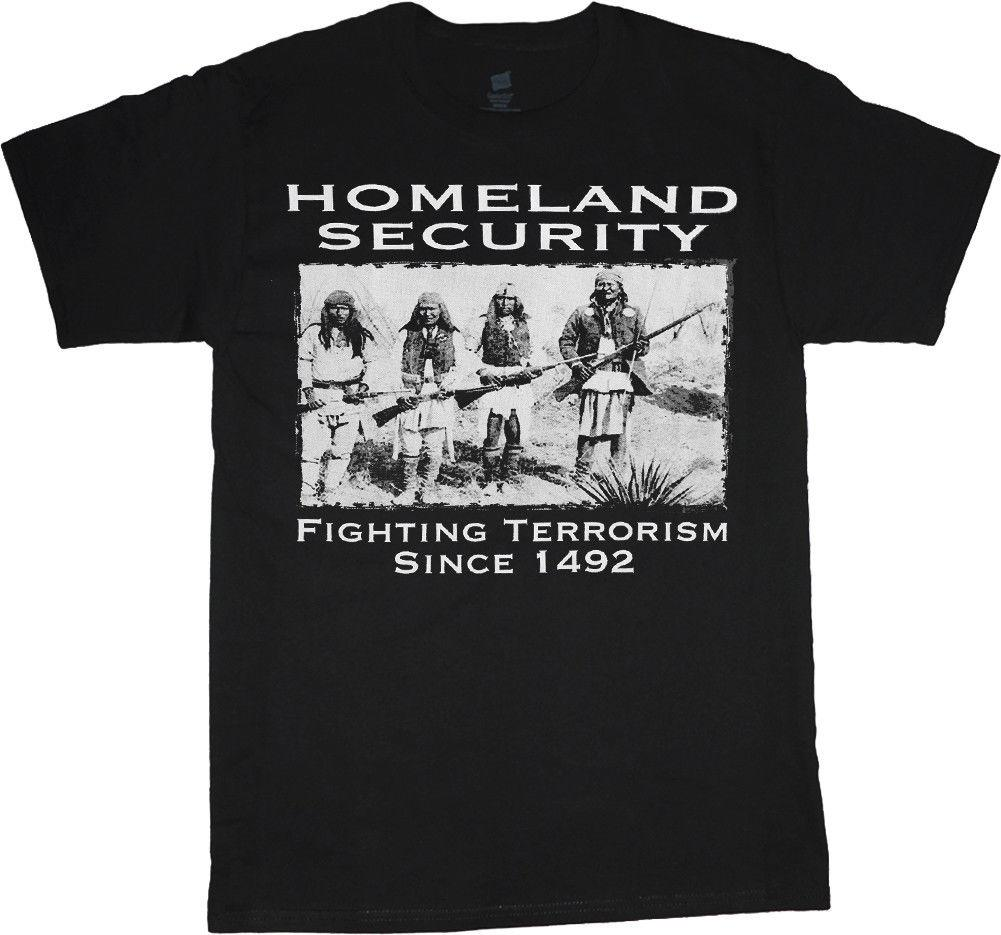 Sale - Men's 7XL - homeland security indians big men clothing t-shirt plus size Casual Reasonable Wholesale tee shirt New Spring Summer