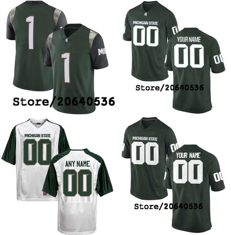 finest selection 72226 cc2fe Cheap Custom Michigan State Spartans College jersey Men Women Youth Kids  Personalized Any number of any name Stitched White Football jerseys