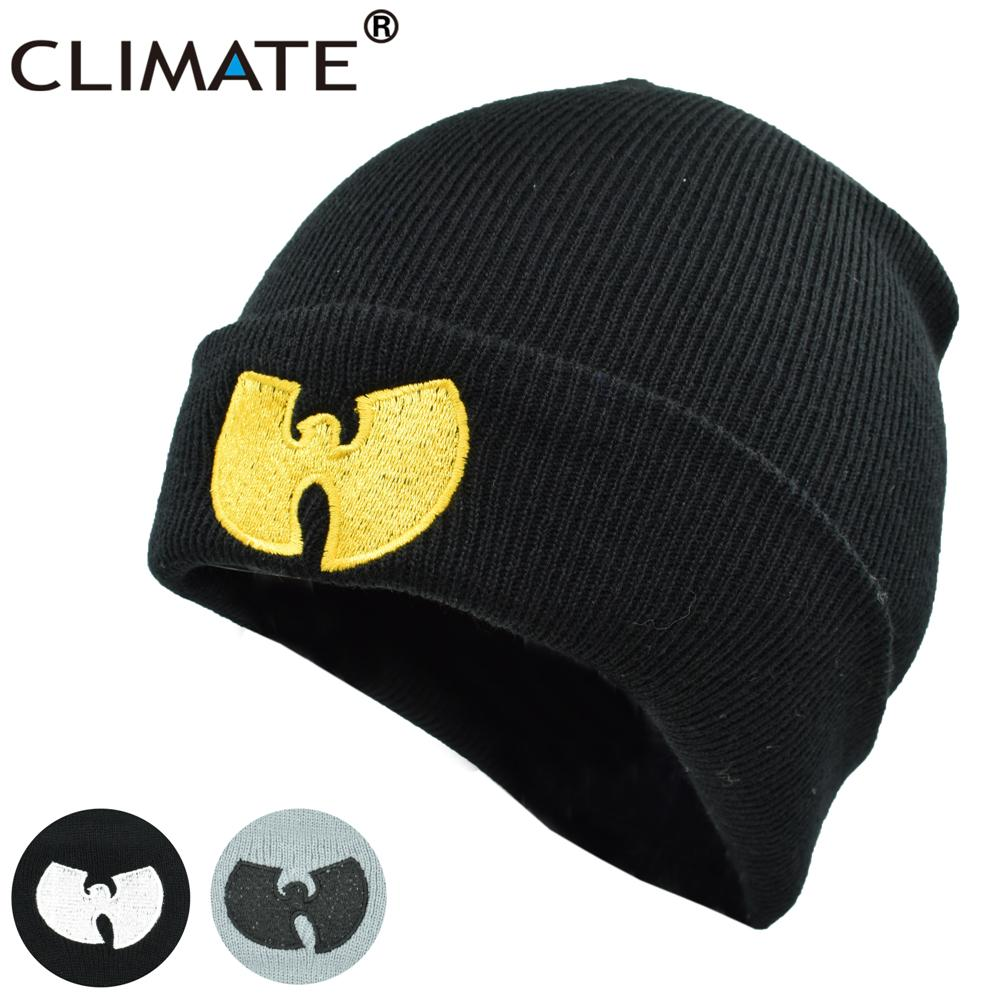 5f0c5f4f29f CLIMATE Men Women Wutang Winter Warm Beanie Hat Musice Skullies Knitted Soft  Wu Tang WU TANG CLAN HipHop Music Team Hats Caps S926 Skull Cap Beanie Boo  From ...