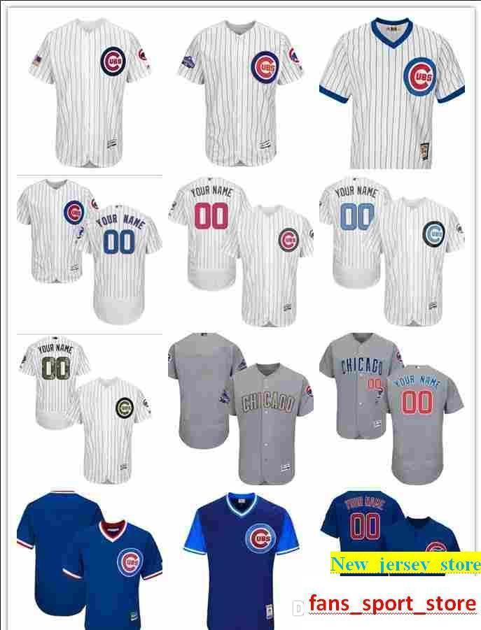 b2a9dbf71e2 custom Cubs Jersey Men's women youth Majestic Personalized name and number  Home White Gold Blue Kids Girls Cubs Champions Baseball Jers