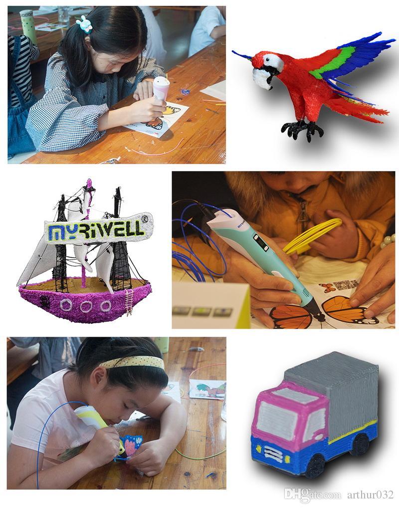 2018 حار 3d رسم القلم diy 3d طابعة القلم عبس خيوط 1.75 ملليمتر الفنون 3d الطباعة القلم lcd التعليمية هدية للأطفال تصميم الرسم الرسم