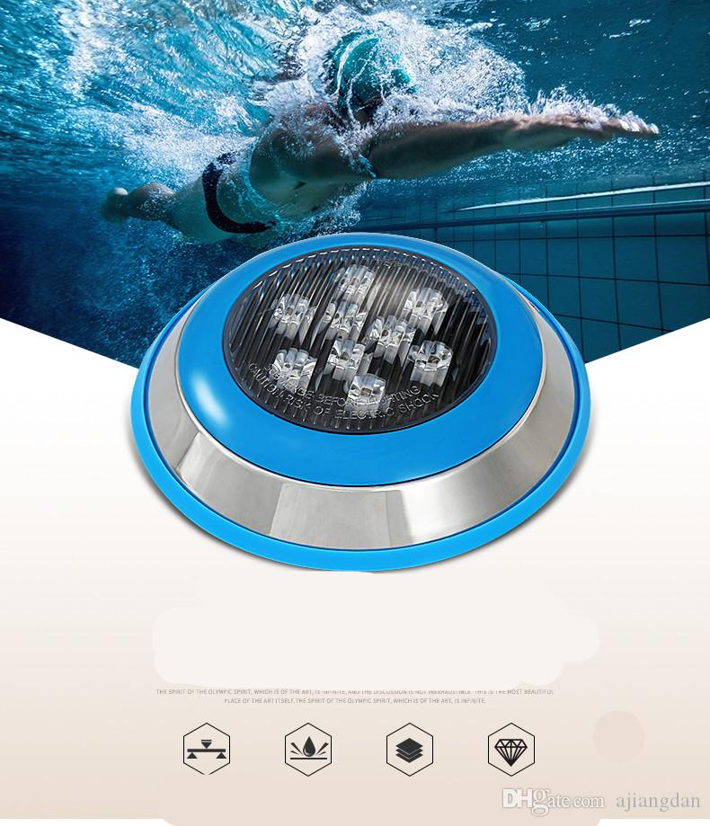 par56 swimming pool light ip68 24w 36w DC 12v underwater lights fountain bulb outdoor waterproof cold/warm white led lamp