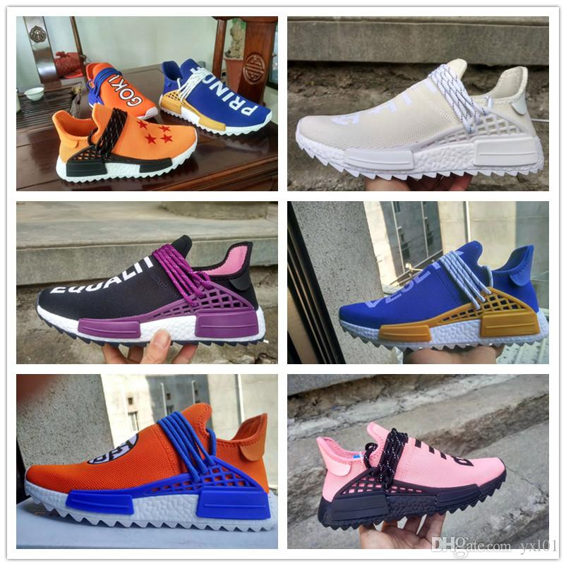 66de5699d161f Hu Trail Equality Black Purple Blue CREAM Blank Canvas Holi Mens Womens  Casual Running Shoes R1 Williams Pharrell Human Race Runner Sneakers Cheap  Shoes Men ...