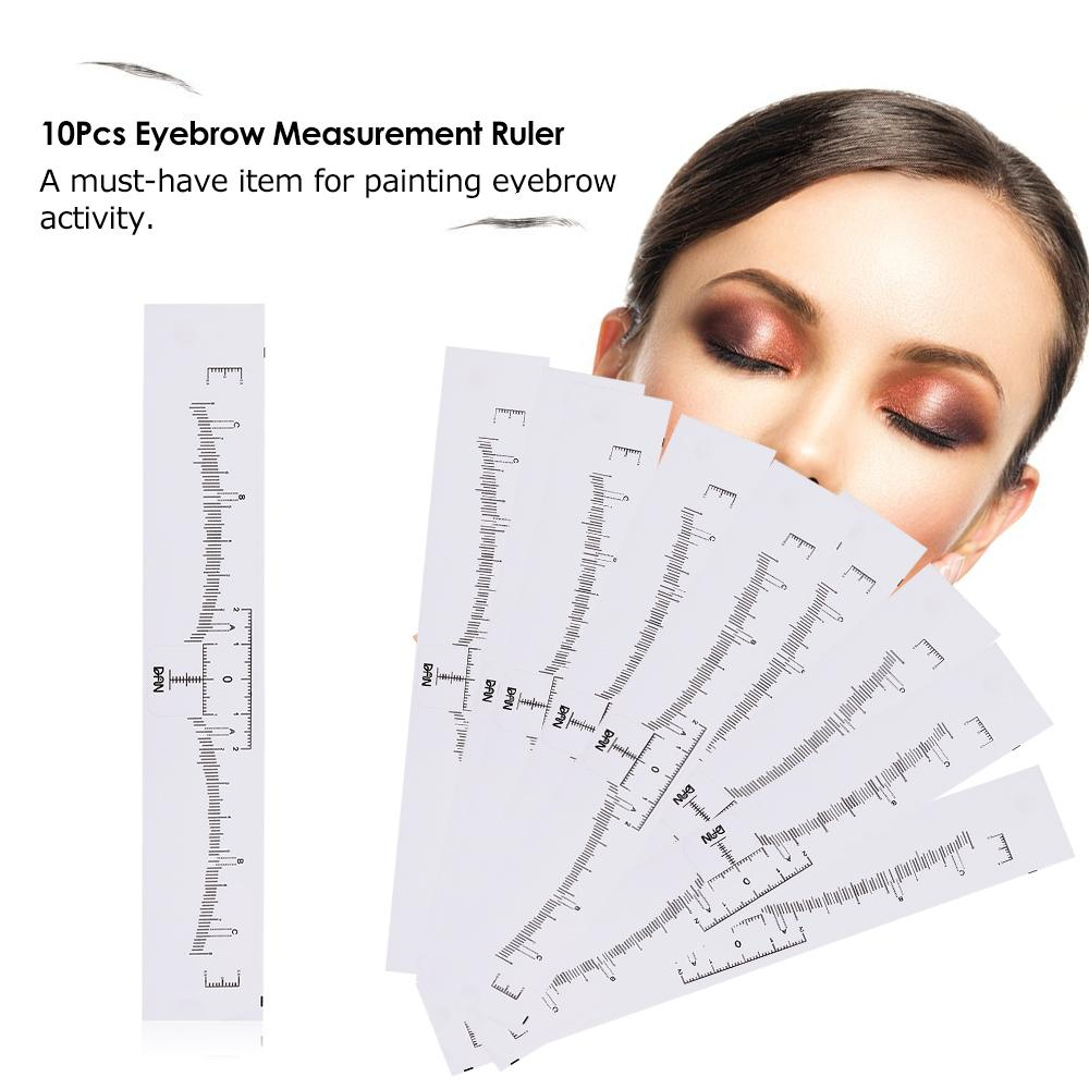 photograph about Eyebrow Shapes Stencils Printable named 10Computer systems Eyebrow Ruler Sticker Long lasting Make-up Eyebrow Shaping Resources Disposable Size Ruler Shaper Grooming Stencil