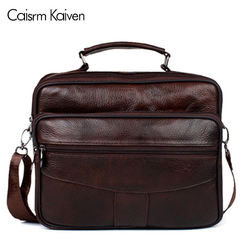 Handtasche Kleine Casual Herren Echtes Schultern Messenger Leder Tasche I9YWDH2E