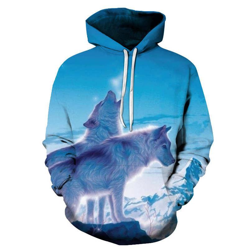 4462a6230e4d Wolf Printed Hoodies Men 3d Hoodies Brand Sweatshirts Boy Jackets ...