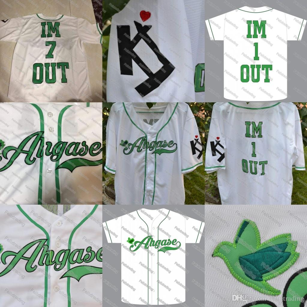 Hot IM 1 OUT Ahgase Baseball Jerseys Men Women Youth Movie Jerseys White  Fast UK 2019 From Felixtrading 8684d79cb8