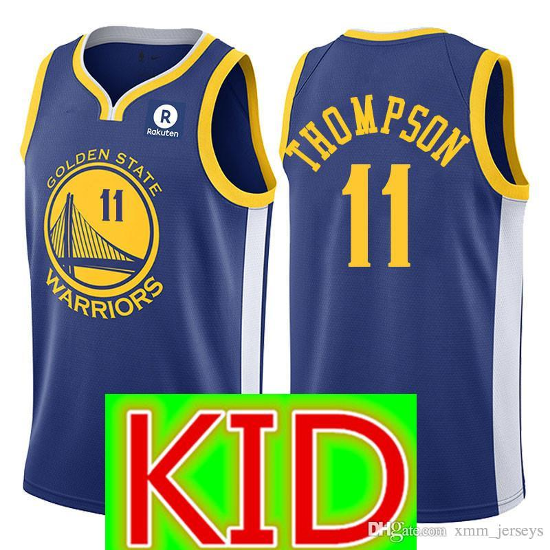 8b171d4c1c8 ... coupon code for 2018 kid 11 klay thompson golden state warriors jersey  youth kid 23 draymond