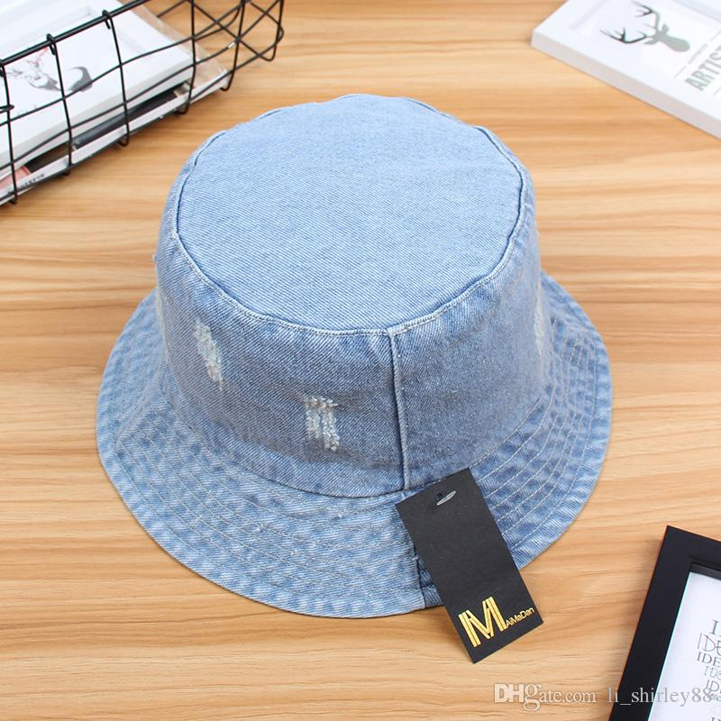 5b617739f80 Sunscreen Men Women Bucket Hat Caps Summer Autumn Solid Color ...