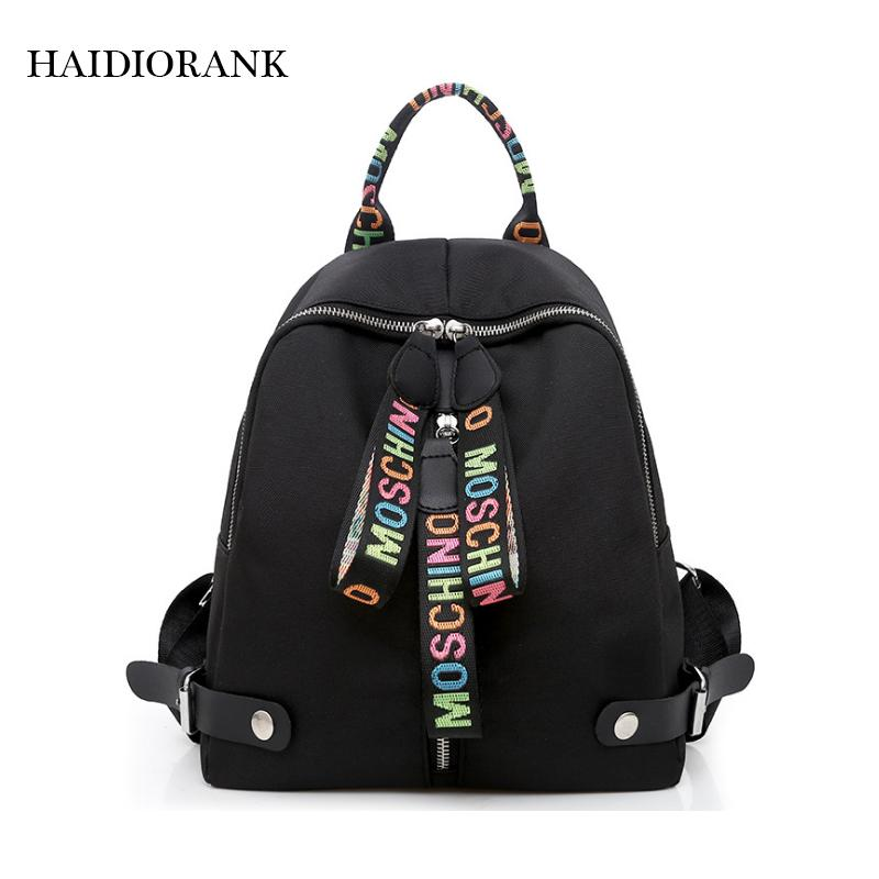 6d7d791bb1 Women S Backpack 2018 Fashion School Lile Backpacks For Teenage Girls Nylon  Bag Waterproof Small BagPack Leer Mini Backpack Cheap Backpacks Rolling  Backpack ...