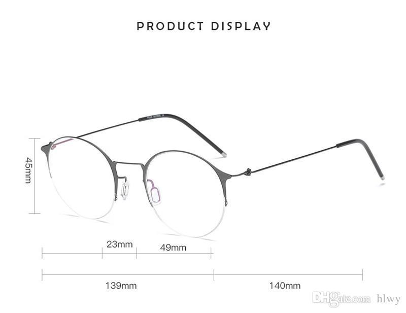 Dernier style, la mode rétro de haute qualité à miroir plat n'a pas de vis pour concevoir les lunettes de haute qualité pour femmes d'affaires Frame