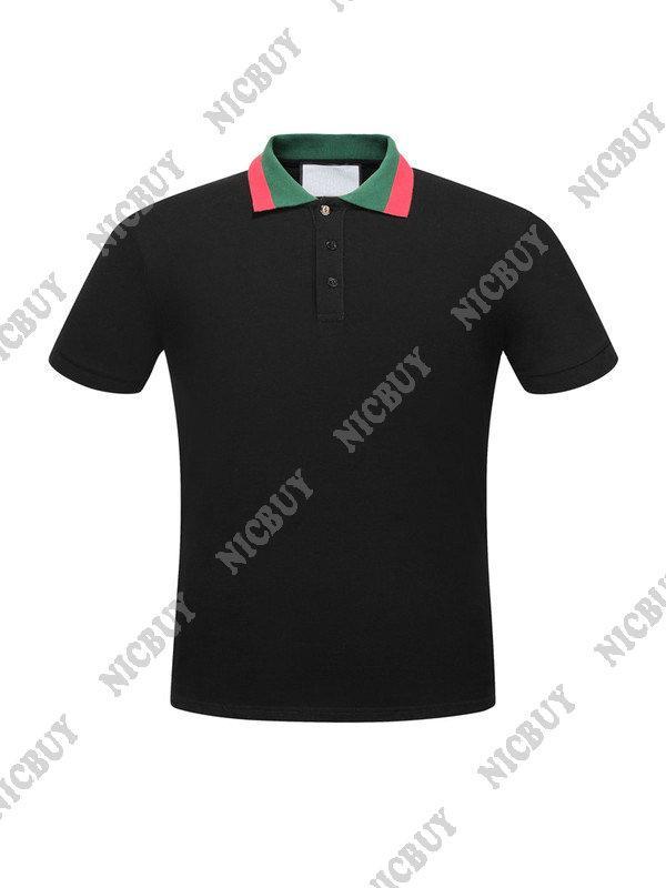 Diseñador de verano ropa de marca de lujo para hombres polo rojo cuello a rayas estilo clásico carta camiseta casual mujer camiseta vuelta cuello abajo camiseta