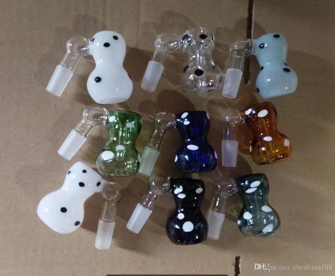 Color point gourd filter , Wholesale Glass bongs Oil Water Pipes Glass Pipe Oil Rigs Smoking ,