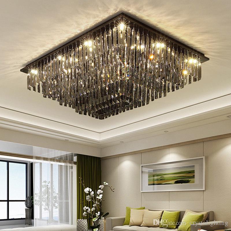 2019 Neuer Stil Moderne Led Kristall Deckenleuchte Lampe Mit 5 Lichter Für Wohnzimmer Lüster Kostenloser Versand Deckenleuchten & Lüfter