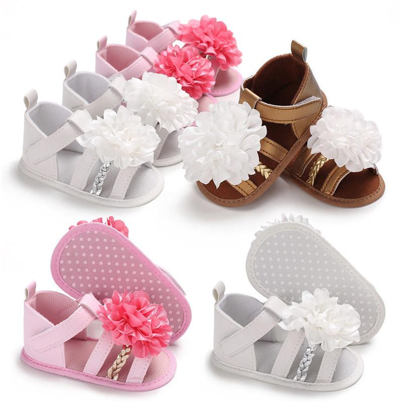 b241cee6e47c9e PUDCOCO Baby Infant Kids Girl Soft Sole Crib Shoes Toddler Summer Active  Climb Floral Sandals 0 18M Shoe For Kids Online Kids Shoes From Babymom