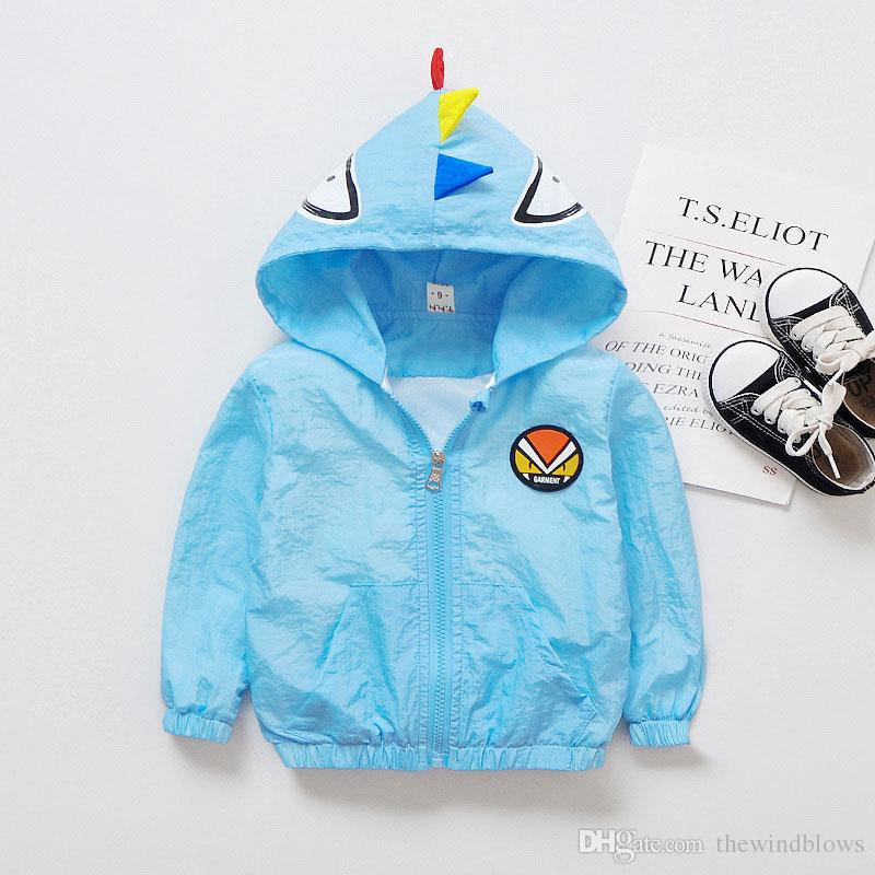1552b15c9 2018 Baby Boys Girls Outerwear Spring Summer Sun Protection Hooded ...