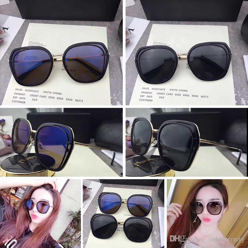 775a8d21cc5 CH00044 Sunglasses Luxury Women Brand Designer 00044 Fashion Oval Summer  Style Top Quality UV Protection Lens Come With Case Bifocal Sunglasses  Retro ...