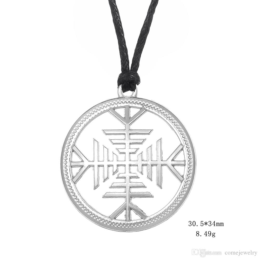 22303a10b Wholesale Lemegeton New Arrival The Helm Of Awe Necklace Gold And Silver  Color Womens Necklace Adjustable Chain Viking Charms Jewelry Ruby Necklace  ...