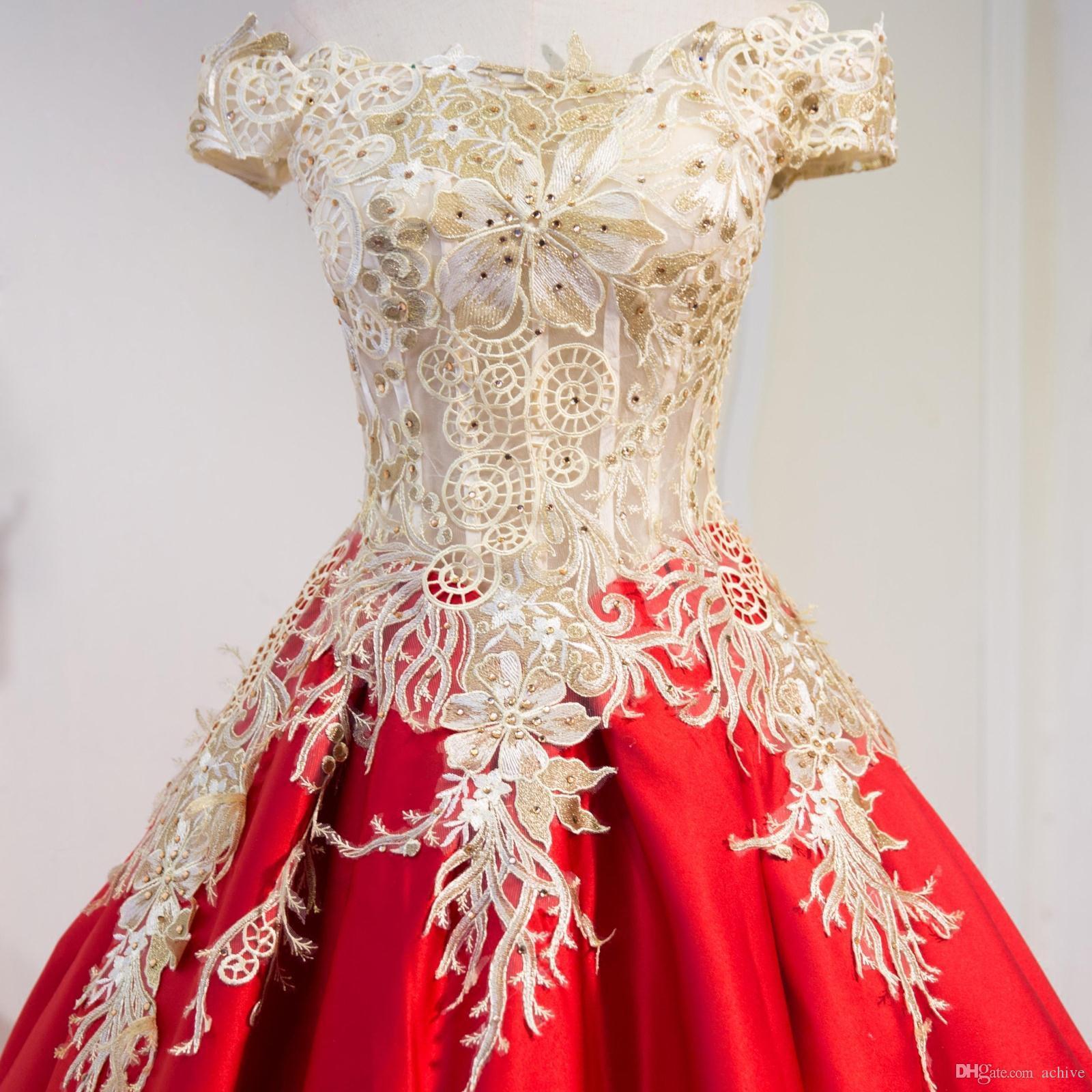 Tasarımcı Kırmızı Dantel Abiye 2020 Cap Kollu Illusion Kristal Uzun Gelinlik Modelleri Kat Uzunluk Parti Abiye Nişan Elbise