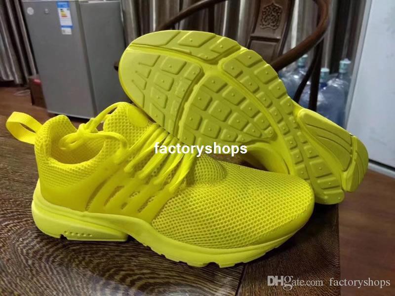 Новый 2018 Prestos 5 кроссовки Мужчины Женщины Presto Ultra BR QS желтый розовый Oreo открытый Моды бег спортивные кроссовки размер США 5.5-12