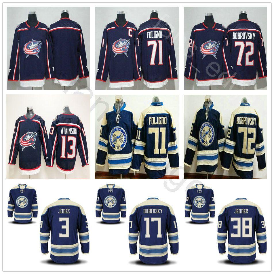 807fc6fb8 2019 New Columbus Blue Jackets Hockey H Jones 9 Artemi Panarin 13 ...