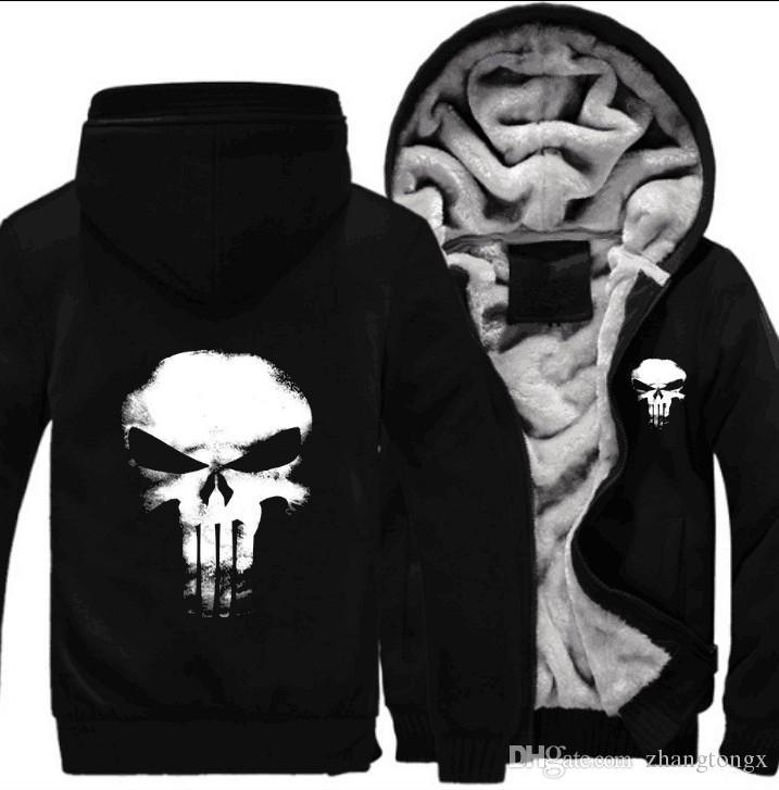 ec2b55570ddf Factory Price Winter Warm Hoodies Anime Skull Hooded Coat Thick ...
