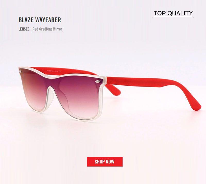 7b5f0eda3 2018 Newest Square Blaze Mirror Gradient Sunglasses Men Women Luxury Brand  Design Top Quality 4440 Sun Glasses Traveller Oculos De Sol Gafas Custom ...