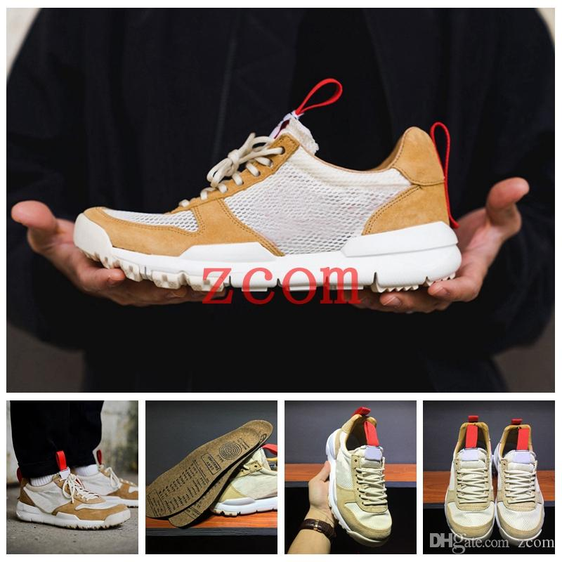 966f736e2c17 Tom Sachs X Craft Mars Yard 2.0 TS NASA Running Shoes For Men AA2261 100  Natural Sport Red Sneaker Designer Shoe Zapatillas Vintage Womens Trail  Running ...