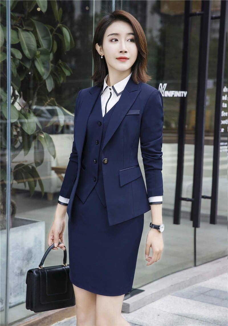 Compre 2018 Trajes De Pantalón Para Mujer De Negocios 3 Piezas Formal Para  Mujer Señoras Oficina De Negocios Trajes De Trabajo De Falda De Trabajo A   42.45 ... cf82bd3ba93d