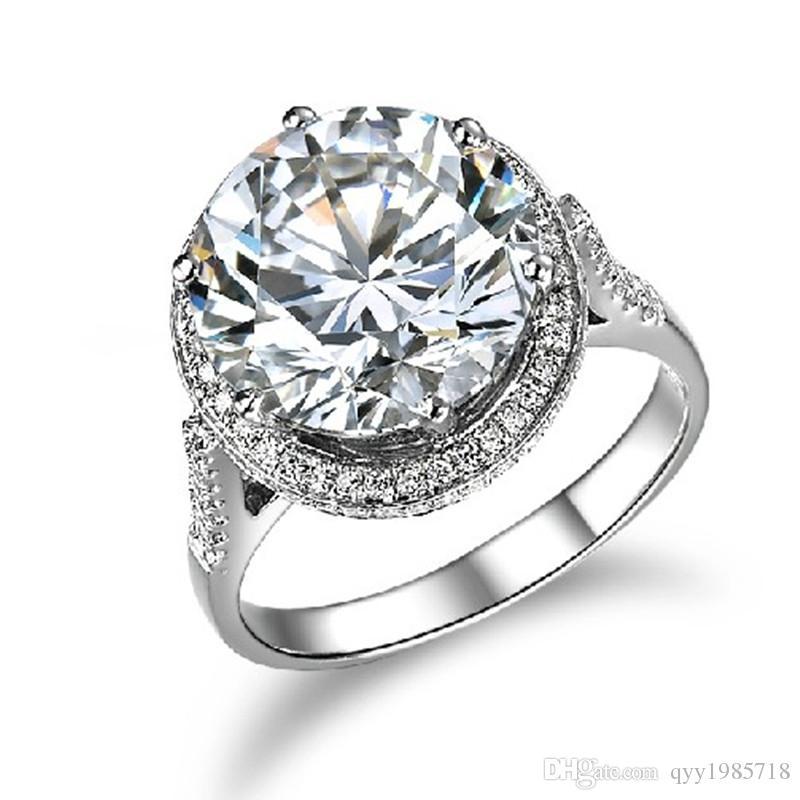 Grosshandel Heisser Verkauf 5ct Weiblichen Verlobungsring Luxus