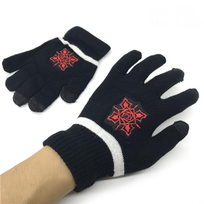 4c773f1bd 2019 Unisex Gloves Full Finger Screen Touch Anime Vampire Knight Bloody  Rose Zero Striped Knitting Glove Winter Warmer Wrist Mittens From Value222,  ...