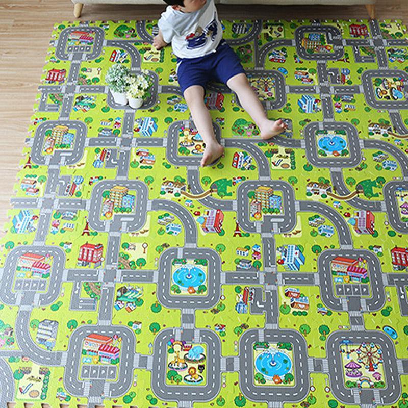 Großhandel Baby Verkehrsweg Puzzle Spielmatte Pädagogisches ...