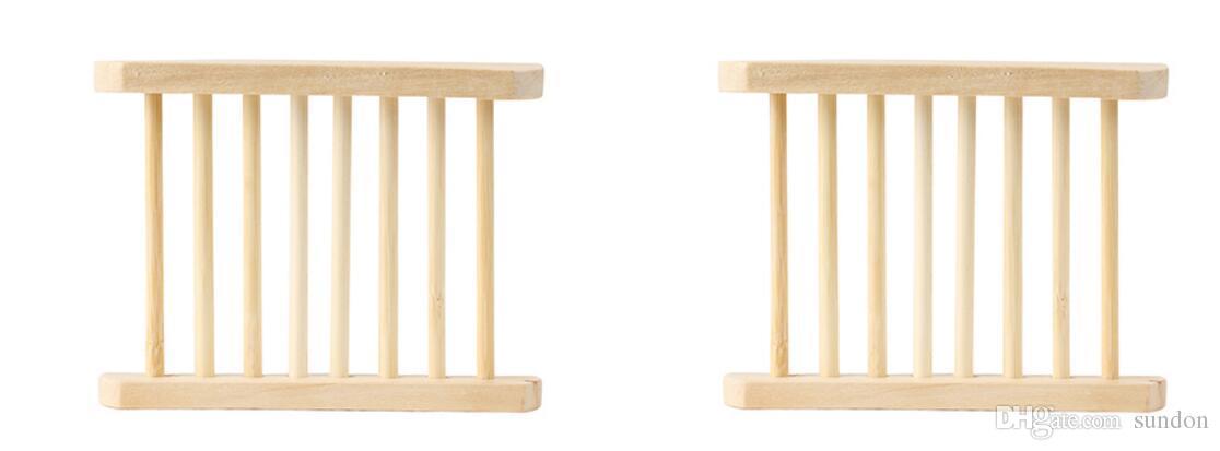 Jaboneras de madera natural Jabonera de madera Soporte de baño Jabonera Accesorios de baño Hueco OEM Disponible