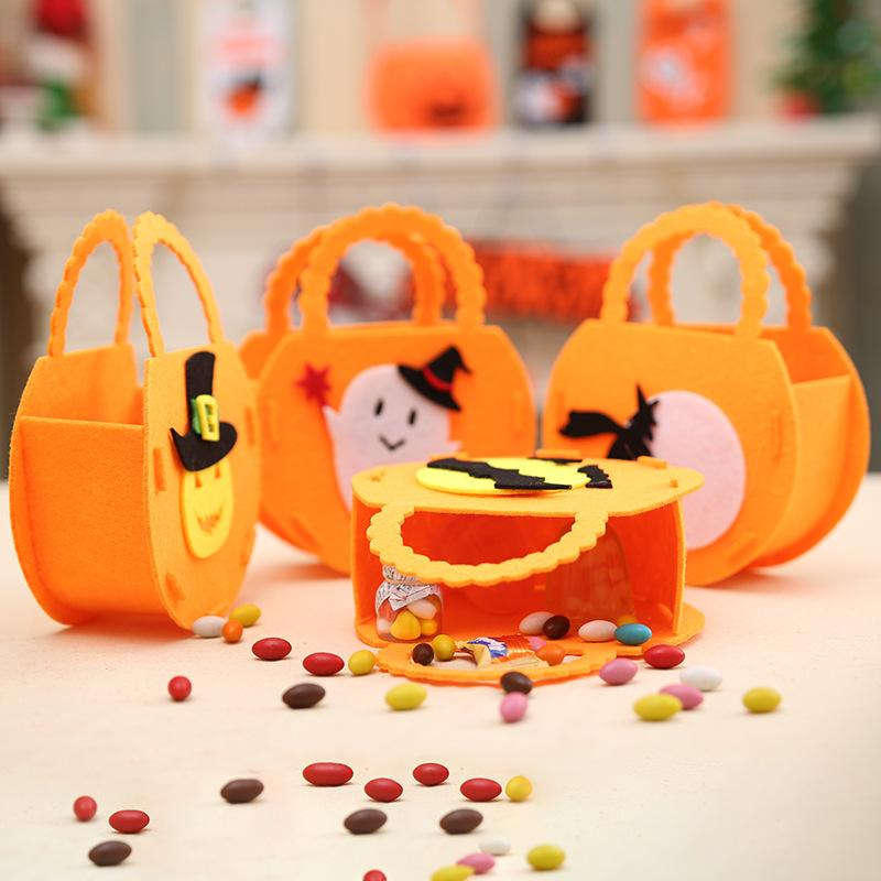 Diy Halloween Trick Or Treat Bags.20pcs Cute Kids Diy Halloween Candy Trick Or Treat Bags Pumpkin Ghost Halloween Decorations Childrens Candy Bags Party Supplies