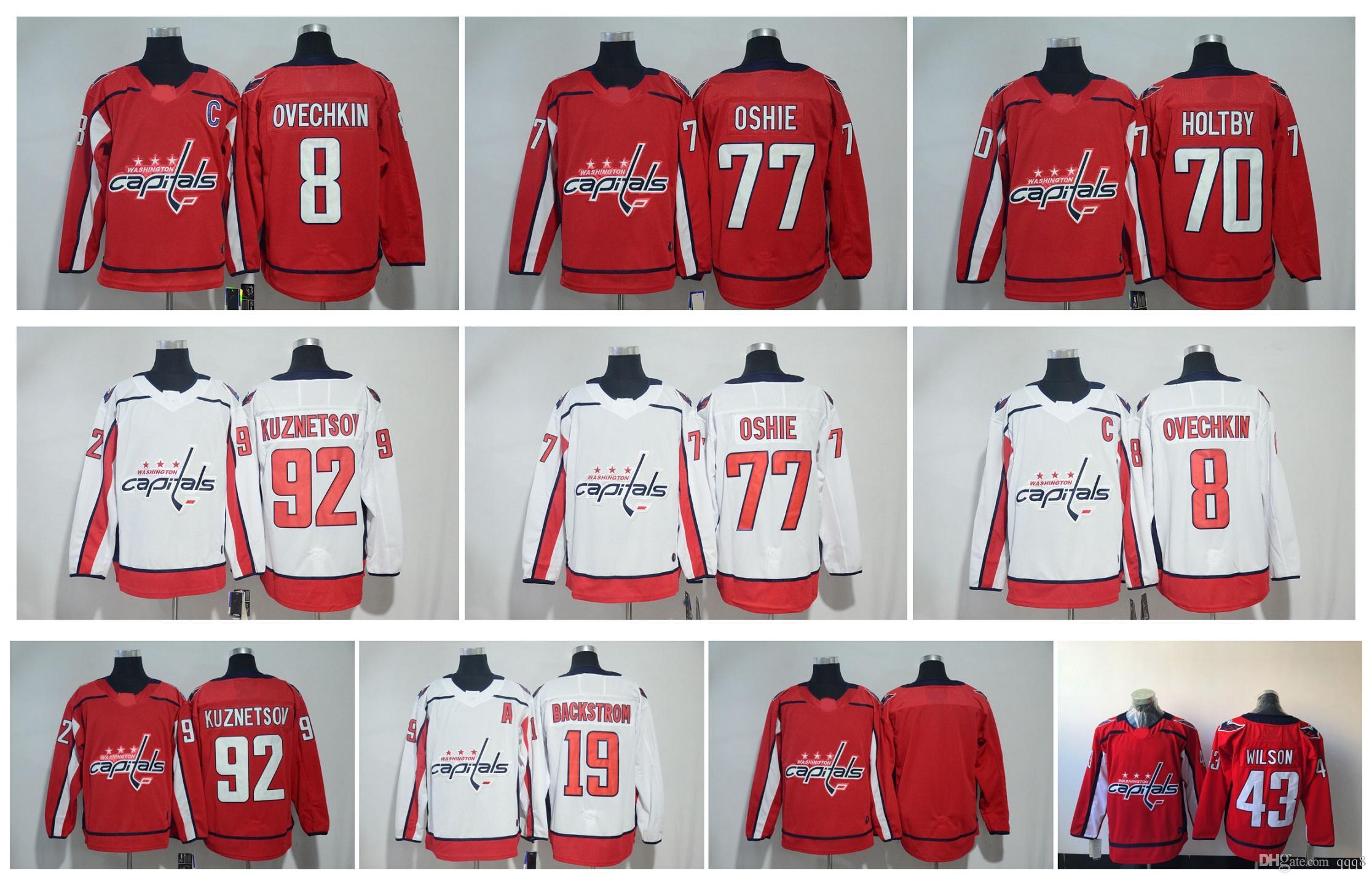 03a28f007bd ... womens jersey  best 2018 washington capitals jersey 8 alex ovechkin 77  tj oshie 92 evgeny kuznetsov 70 braden