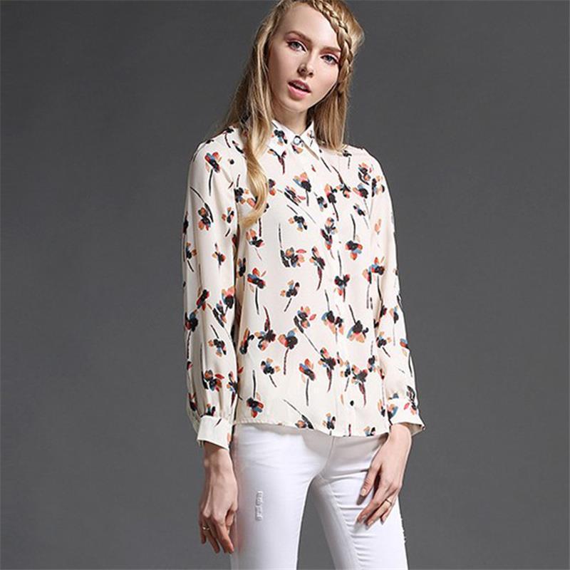 2018 New Chiffon Shirt for Female Fashion Women s Summer Loose Sexy ... d0a9b9caad52
