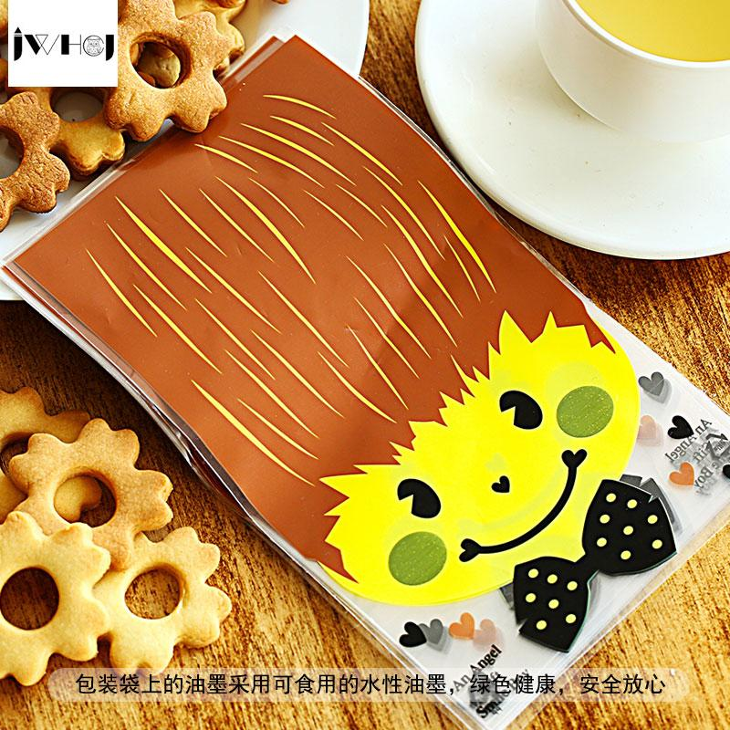 Cute boy girl adhesive bag cookies diy Gift Bags for Christmas birthday Party Candy Food&Handmade soap Packaging bags