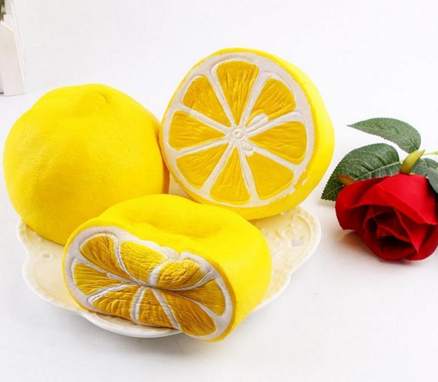 Nova Jumbo Squishy limão Kawaii Squishy Fruta Bonito Lento Rising Decoração Telefone Strap Pingente Squishes Presente brinquedos boneca