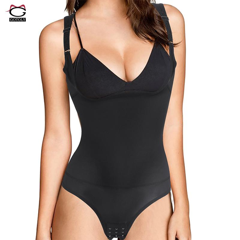6bc8d5299 Gotoly Seamless Open Bust Bodysuit Body Shaper Women Corset Waist ...