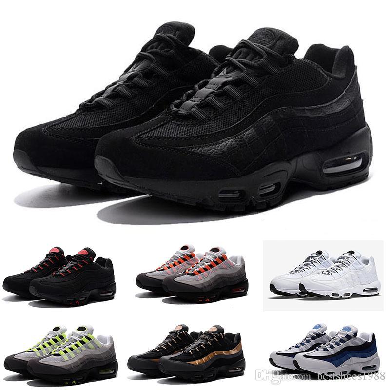 size 40 33b39 a117a Großhandel 2018 Nike Air Max 95 Discount High Quality Casual Outdoor  Wanderschuhe New 95 Männer Schwarz Weiß Rot Herren Breathable Man Trainer  Tennisschuhe ...
