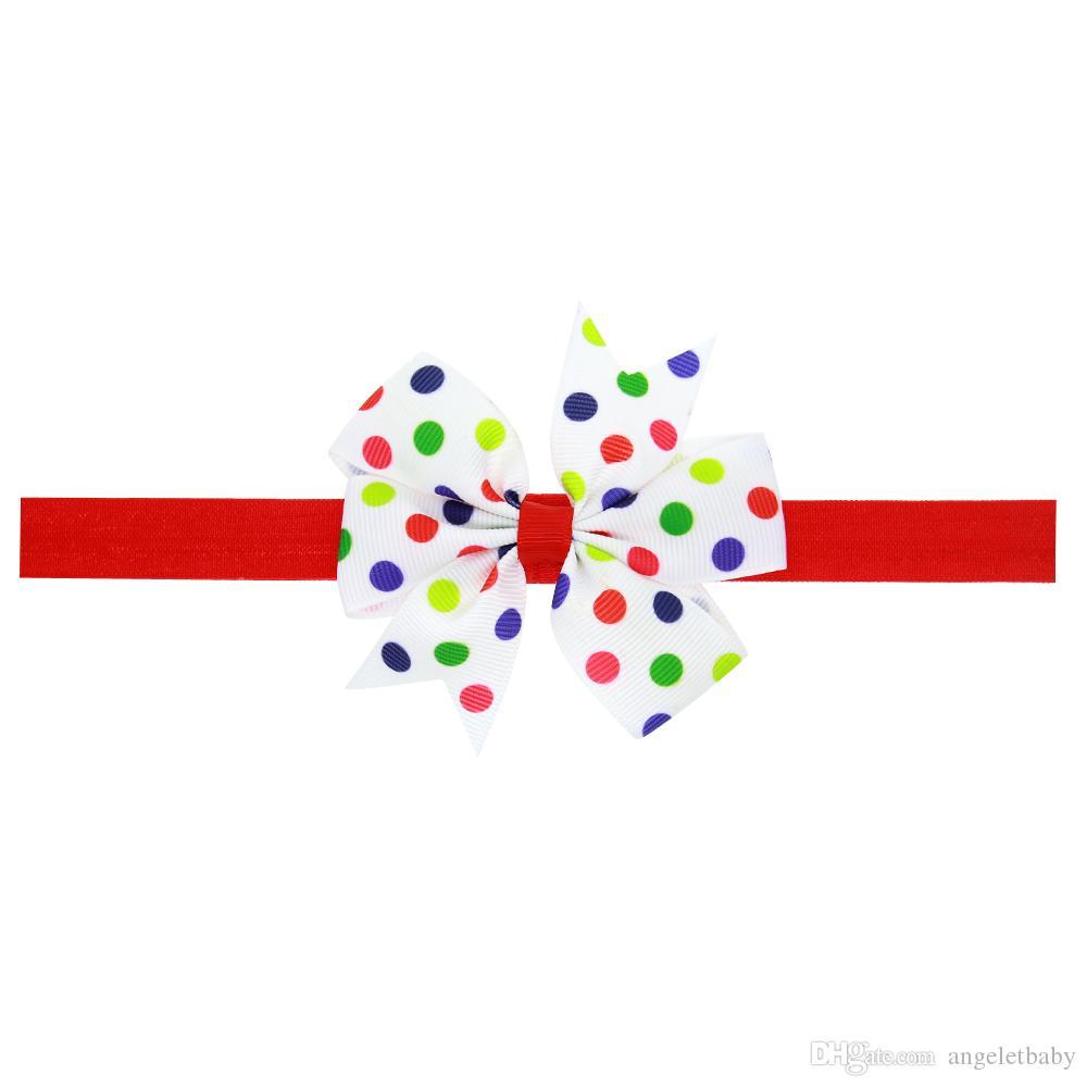 pelo arco diadema hermosa flor de la cinta del arco de las vendas del pelo para los niños recién nacidos Top nudo punto accesorios para el cabello HC067