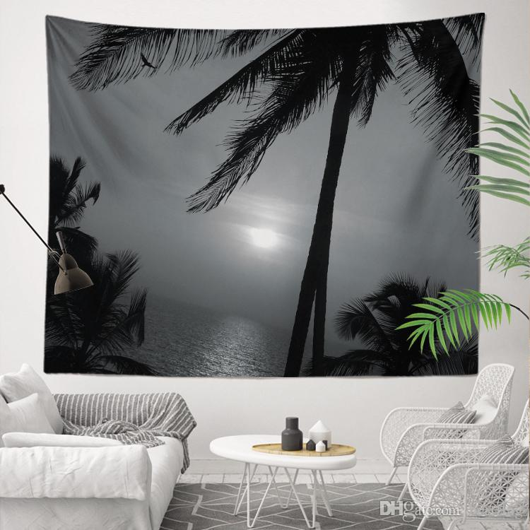 Black and White Pictures Best Price Sublimation Custom Printed 130x150cm 400g Wall Tapestry for House Decoration