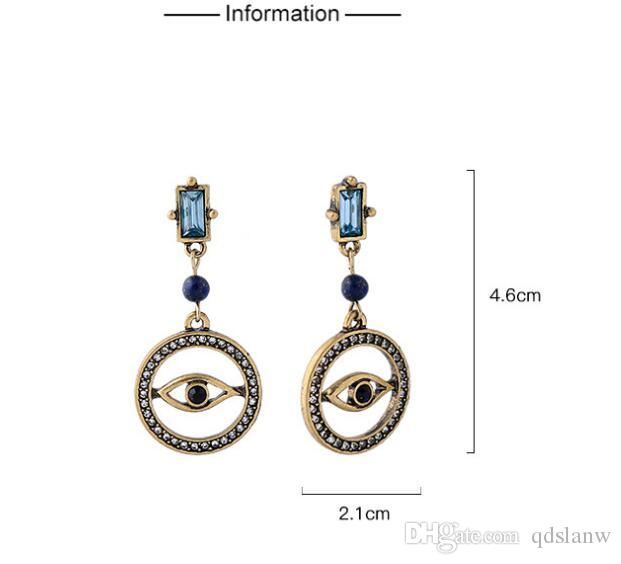 2018 Slanw 2018 New Style Anti Gold Color Big Circle Retro Hollow Eyes Earrings  Female Personality Cc Charm Pendant Dangle Earring Accessories Cc From ... 0d0d7b030f24