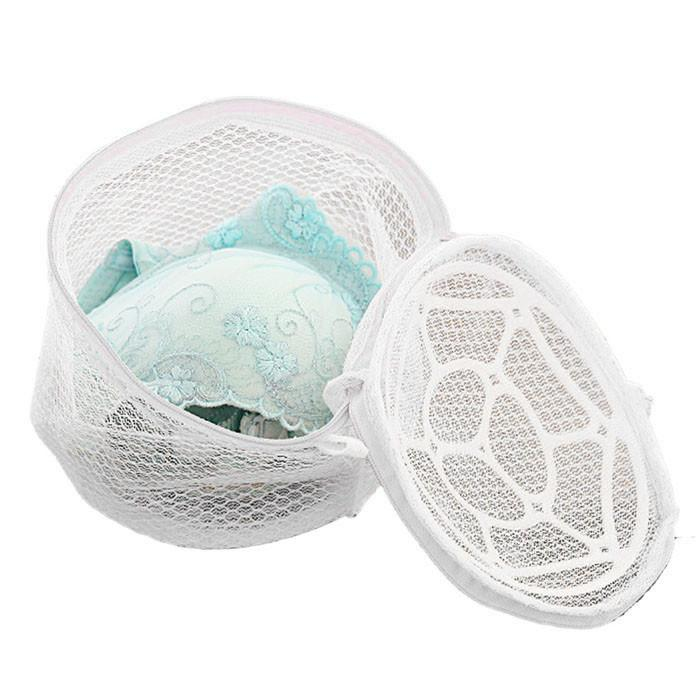 New Lingerie Organizers Underwear Bra Sock Laundry Washing Aid Net Mesh Zip Bag Rose For Clothes Housekeeping