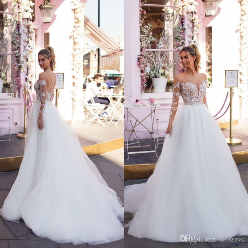 Imagenes de vestidos de novia con manga larga