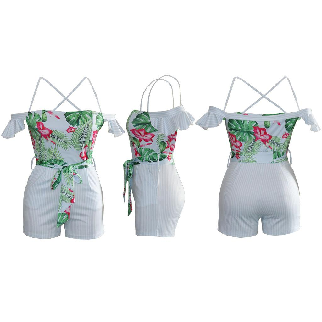 d8596ede8 2019 Elegant Strap Flouncing Sleeve Rompers Women Jumpsuit Sexy Backless  Playsuit Vintage Floral Print Summer Overalls From Topoutlets, $17.08 |  DHgate.Com
