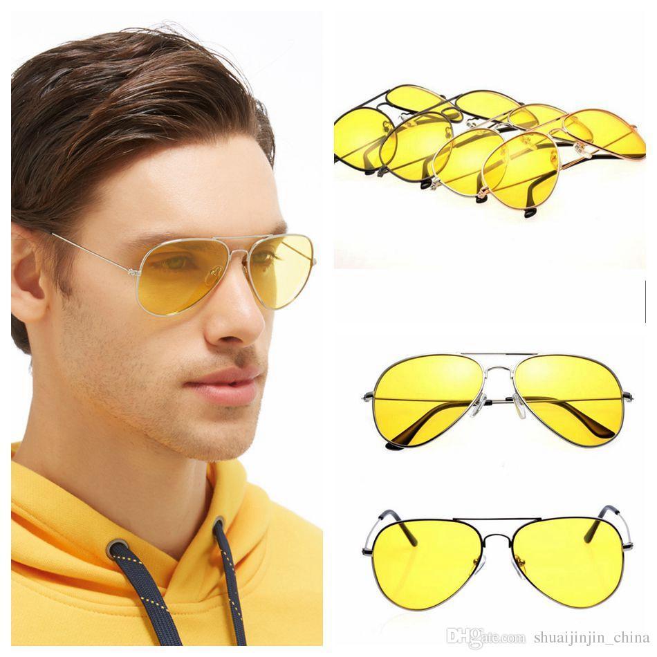 UV400 Polarized Anti-Glare Sunglasses Night Vision Outdoor Driving Glasses Men Night Driving Eyewear 4 Styles OOA4117