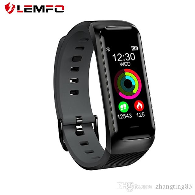 ad7ae0e1a289 Pulsera Smartband LEMFO B02 Pulsera De Fitness Inteligente Impermeable GPS  Rastreador De Fitness Presión Arterial Monitor De Ritmo Cardíaco Modo Multi  ...