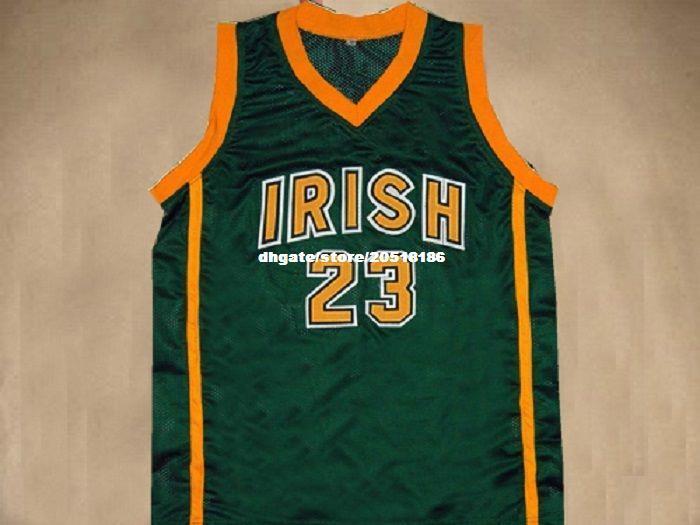 9d1bc30eb814 Cheap Mens CUSTOM IRISH HIGH SCHOOL JERSEY LEBRON JAMES SEWN NEW ANY NAME