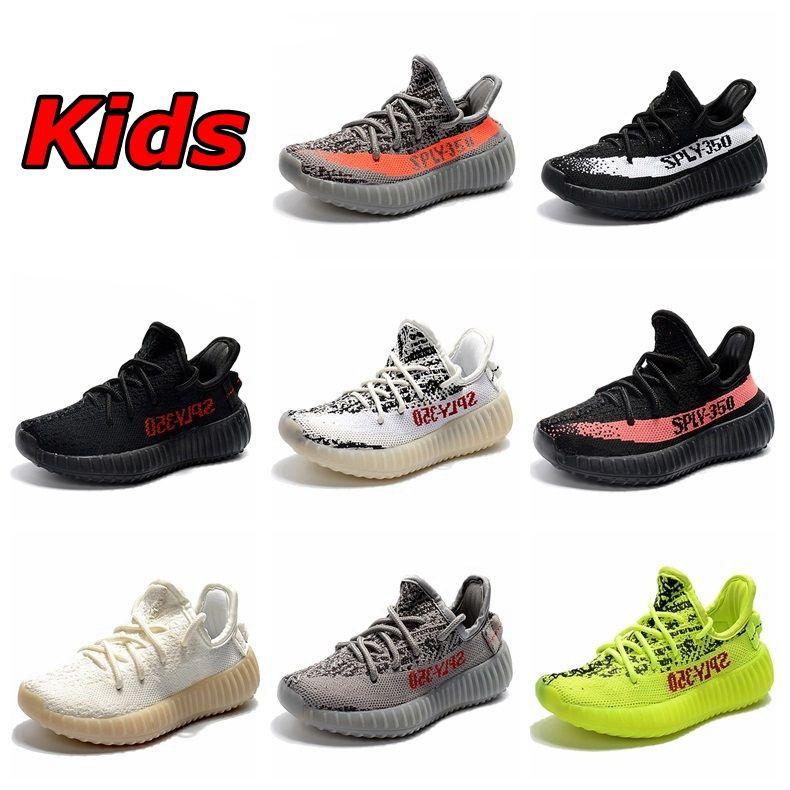 bambini adidas yeezy 350 v2 beluga crema bianca zebra sply 350 nero bianco le scarpe da corsa sport kanye west bambini trainer